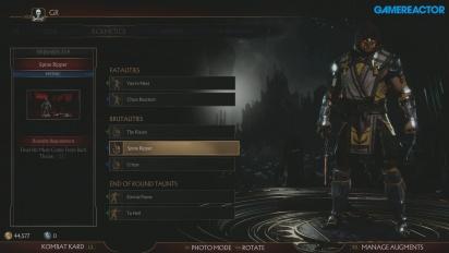 Mortal Kombat 11 - Menú de personalización