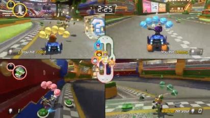 Mario Kart 8 Deluxe - Gameplay del Modo Batalla multijugador de Nintendo Treehouse