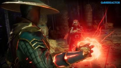 Mortal Kombat 11 - Gameplay de Raiden, Baraka y Skarlet