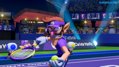 Mario Tennis Aces - Gameplay Online Waluigi vs Yoshi