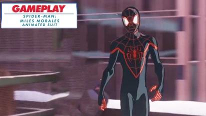 Spider-Man: Miles Morales - Gameplay con el traje de la Animación