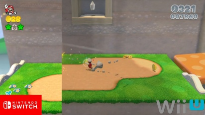 Super Mario 3D World - Comparativa Gráficos Nintendo Switch vs Wii U