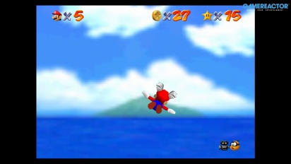 Super Mario 64 en Nintendo Switch: Gameplay de Bob-Omb Battlefield
