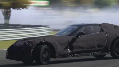 Gran Turismo 5 - Corvette C7 Test Prototype Drifting on Autumn Ring Trailer