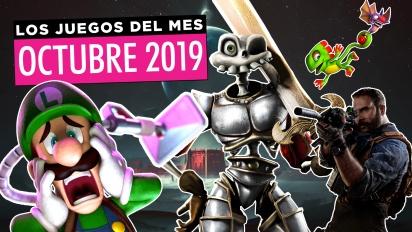 Los juegos del mes: Octubre de 2019