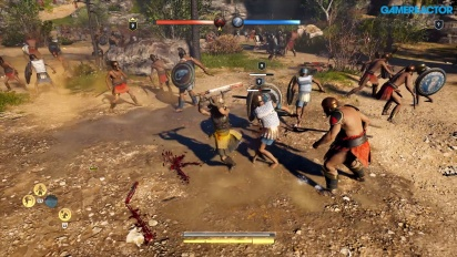 Assassin's Creed Odyssey - Gameplay Batalla de Conquista en Megaris