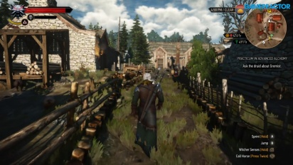 The Witcher 3: Wild Hunt - Gameplay en Nintendo Switch de Gamereactor