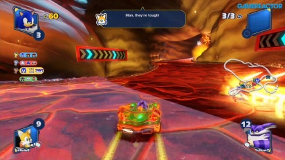 Team Sonic Racing - Gameplay multijugador en Hidden Volcano