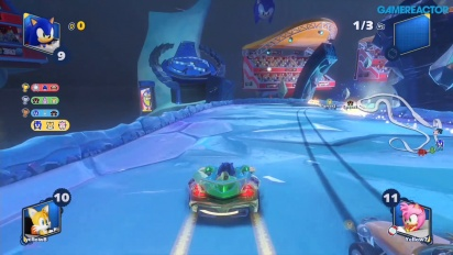 Team Sonic Racing - Gameplay multijugador en Frozen Junkyard