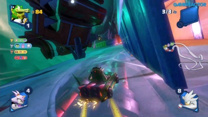 Team Sonic Racing - Gameplay en Frozen Junkyard