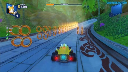 Team Sonic Racing - Gameplay del reto de anillos en Lost Palace