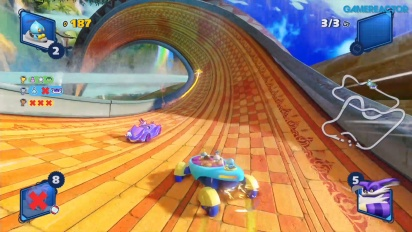 Team Sonic Racing - Gameplay supervivencia en Lost Palace
